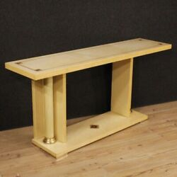 Console Italian Furniture Table In Wood Brass Antique Style Living Room Inlay