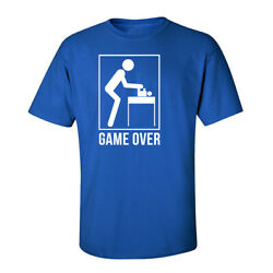 Game Over Dad's Humor Tees Graphic Funny Generic Novelty Unisex T-Shirt
