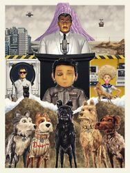 Isle Of Dogs By Sam Gilbey Art Print Poster Wes Anderson Movie Mint Mondo