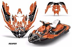 Jet Ski Graphics Kit Decal Wrap For Sea-doo Bombardier Spark 2 Up 14-18 Reaper O