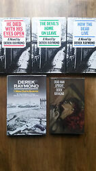 Derek Raymond – Factory Series All 1st/1st Uk Hb Dw He Died With His Eyes Open