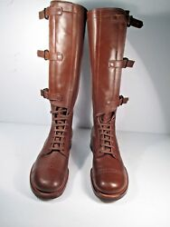 Ww2 Vintage Boots Men's Military Cavalry Riding Boots Size 8.5 D