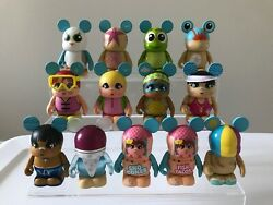 """Disney Vinylmation 3"""" Cutesters At The Beach Series Complete Set Chaser Variant"""
