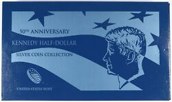 2014 Us Mint 50th Anniversary Kennedy Half Dollar Silver Coin Collection Set