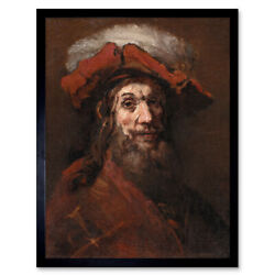 Rembrandt Sketch For The Knight With The Falcon Art Print Framed 12x16