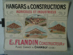 Affiche Hangars Constructions Agricoles Industrielles Flandin Chambly Oise
