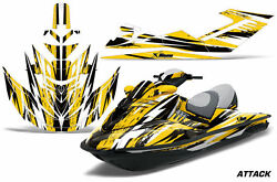 Jet Ski Graphics Kit Decal Sticker Wrap For Sea-doo Rxt 215 2005-2009 Attack Ylw