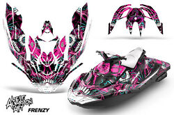 Jet Ski Graphics Kit Decal Wrap For Sea-doo Bombardier Spark 3 Up 15-18 Frenzy P