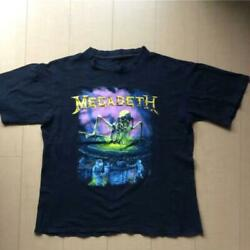 Megadeth T Shirt Metal Rock Band Collectible Men 80's Vintage One Size Used F/s