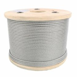 1/4 Stainless Steel Aircraft Cable Wire Rope 7x19 Type 304 T-304