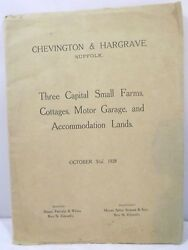 Vintage Auctioneerand039s Catalogue For Farms And Land In Chevington And Hargrave 1928