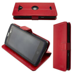 caseroxx Bookstyle-Case for Crosscall Core-X3 in red + Screen Protector