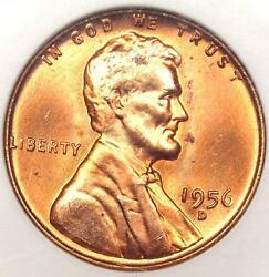 1956-d Lincoln Wheat Cent 1c - Anacs Ms67 Rd - Rare In Ms67 - 750 Guide Value