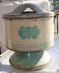 Vintage 1930's Sunny Suzy Washing Machine Tin Toy Parts Included