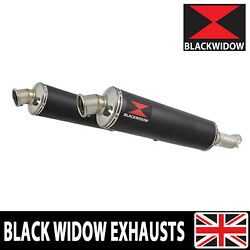 Gsx1400 K2 K3 K4 02 03 04 4-2 Exhaust Silencers End Cans Black Stainless Bn40r