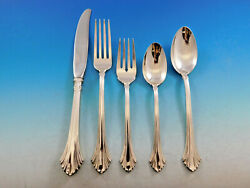 French Regency By Wallace Sterling Silver Flatware Set For 6 Service 34 Pieces