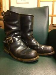 Pt83 Men Boots Casual Shoes Rare Dark Brown Red Wing Shoes Used Vintage Wear