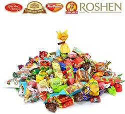 Russian-ukranian Sweets Mix Chocolate Toffee And Hard Candy Assortment 4lb/1.82kg