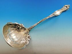 Frontenac By International Sterling Silver Soup Ladle Flowers Curved 12 1/2