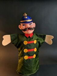 Police Bobby - Vtg Punch And Judy Hand Puppet Mr Rogers Neighborhood Character
