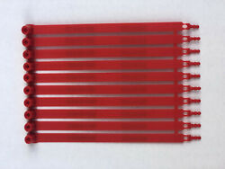 100 Red Plastic Security Seals Numbered. Truck Container Seals.