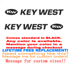 Pair Of 4 X 52 Key West Boat Hull Decals. Marine Grade. Your Color Choice