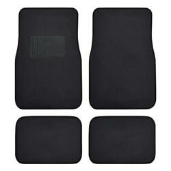10 Pack Carpet Car Floor Mats Black Front And Rear Liners For Sedan Truck Suv