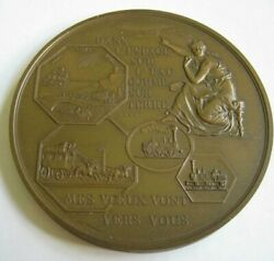 1967 French Bronze Medal In Space On Water And On Land Greetings 434g 100mm