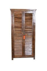 Recycle Wood Armoires Wardrobes Dresser Storage With Shelves For Home Bedroom