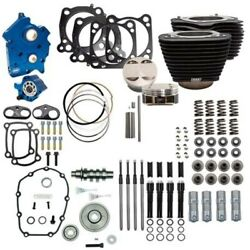 Sands 124 Oil Cooled Power Package Gear Drive Black Nh Harley Touring Softail M8