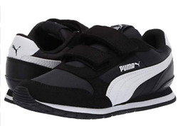 Puma ST Runner V2 Kids Strap Sneaker Toddler Shoes Kids Shoes Kid Black White $29.99