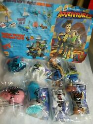 Burger King Toy Story Complete Set Of 8 In Sealed Bags W/kids Club Activity Mat