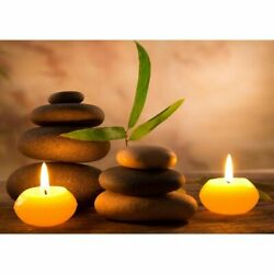Spa Still Life With Aromatic Candles Unframed Canvas Painting For Home Interior