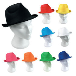 10 Fedora Sun Hats Panama Trilby Style Mens Ladies Bowler Party Jazz Gangster Uk