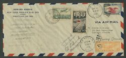 H. HUGHES AUTOGRAPHED ON 1938 R-T-W FLIGHT COVER CONNOR & LODWICK SIGNED WLM8128