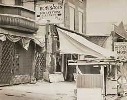 Vintage 718 Maxwell St Chicago Ron's Shoes Music Signs Street Photography Photo