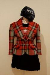 Vivienne Westwood Love Jacket Plaid Red Size 40 Very Rare Authentic Japan F/s