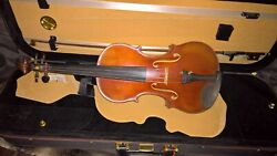 Guarneri 4/4 Solid Wood Satin Antique Violin With Bow And Case