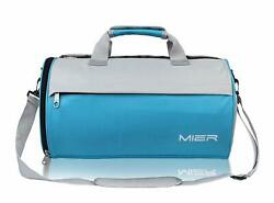 Mier Barrel Travel Sports Bag For Women And Men Small Gym Bag With Shoes Compart