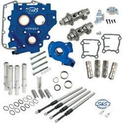 Sands 585ce Easy Chain Drive Camshaft Cam Chest Plate Pushrod Kit Harley 06-17 585