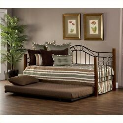 Hillsdale Matson Daybed With Trundle In Cherry And Black