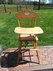 Vintage Care Bear Wooden High Chair