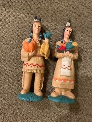 Midwest Importers Of Cannon Falls American Indians Thanksgiving Set Mg