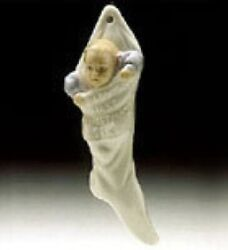 Lladro Baby's First Christmas 1993 Holiday Stocking Ornament 06037 1st Xmas