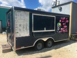 2018 - 8.5' x 16' Shaved Ice Concession Trailer for Sale in Louisiana!!!