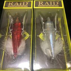 Raid Japan Dodge Set Of 2 Lure Fishing Bait Both Never Used Collectible F/s