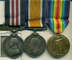 A Wwi Western Front Mm Group Of 3 Awarded To Sergeant D Butler Canadian Infantry