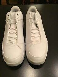 Jordan Team Strong Low Mens Shoes White Metallic Silver Size 15 Brand New In Box