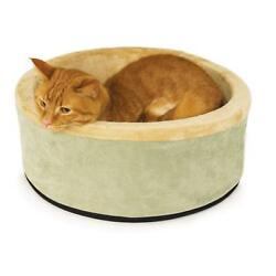 Electric Heated Cat Bed Indoor Thermo Kitty House Dog Pet Warmer Pad 16