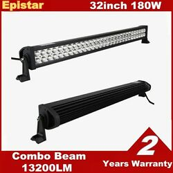 32inch 180w Led Light Bar Combo Driving Fog Lamp Boat Offroad For Jeep Ford Ute